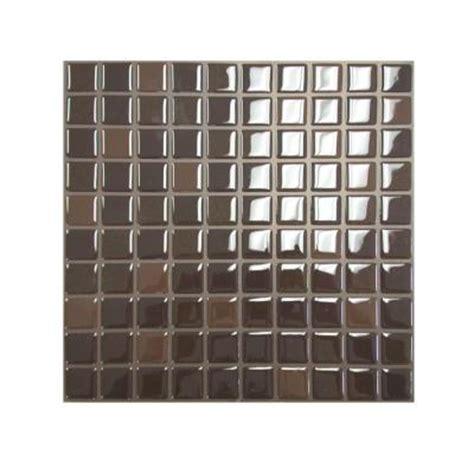 home depot mosaic tile backsplash smart tiles 9 85 in x 9 85 in mosaic decorative wall