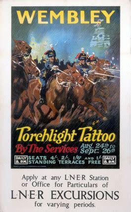 tattoo london wembley wembley torchlight tattoo lner poster c 1924 by g h