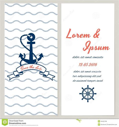 nautical wedding invitation template 9 best images of nautical watercolor free printable