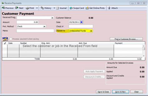 quickbooks enterprise tutorial 2013 how to deposit invoice payments in quickbooks