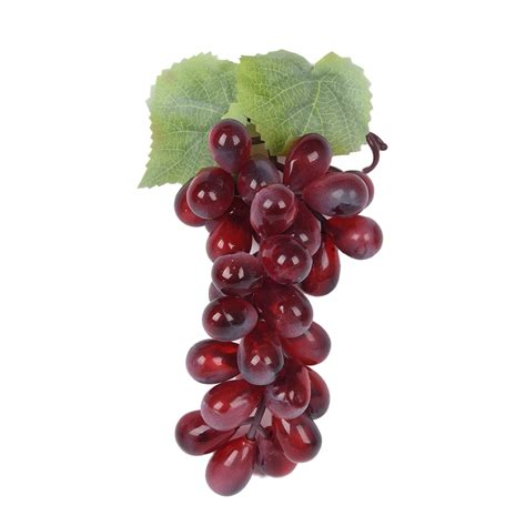 purple plastic artificial grapes cluster fruit decor desk