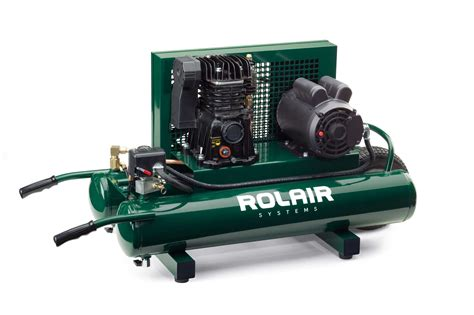 5715mk103 1 5 hp 9 gal portable belt drive air compressor rolair systems