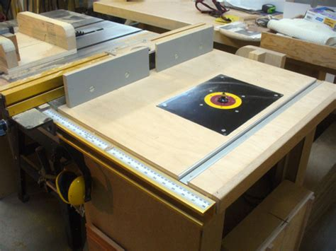 a table saw extension router table ravenview