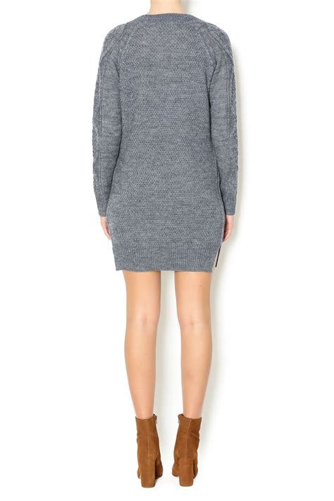 Pinguin Dress2 pink penguin grey knit sweater dress from west