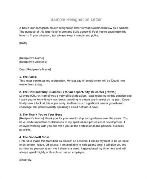 Resignation Letter For Board Reasons 49 Resignation Letter Exles