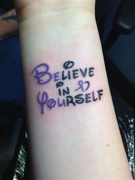 tattoo fonts disney brlieve in yourself disney search