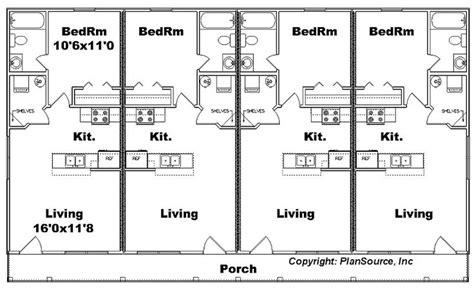 4 plex apartment plans j1103 11 4 4plex floor plan floor plans pinterest