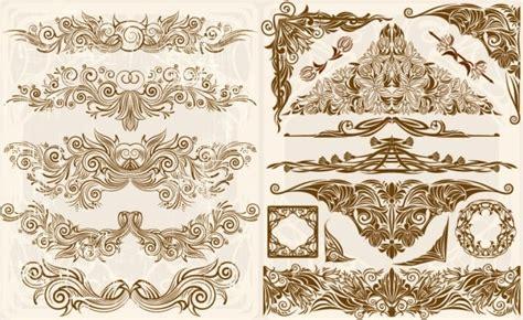 european gorgeous retro pattern vector free vector in
