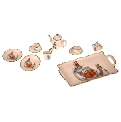 beatrix potter dolls house beatrix potter peter rabbit dolls house porcelain tea set pink cat shop