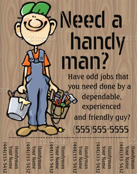 handyman templates beautiful handyman flyer templates 23