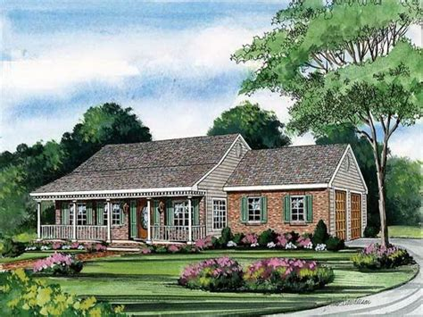 Wrap Around Porch House Plans One Story by One Story House Plans With Porch One Story House Plans