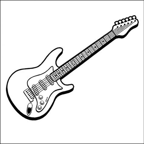 easy guitar book sketch guitar line drawing clipart best