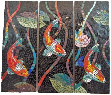 mosaic koi pattern glass koi mosaic koi fish in design pinterest