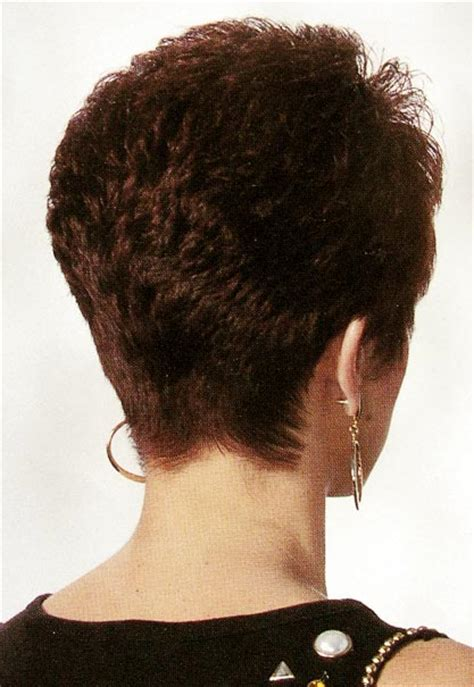 Short Neckline Hair Styles | pics from back of womens neckline short hair cuts short