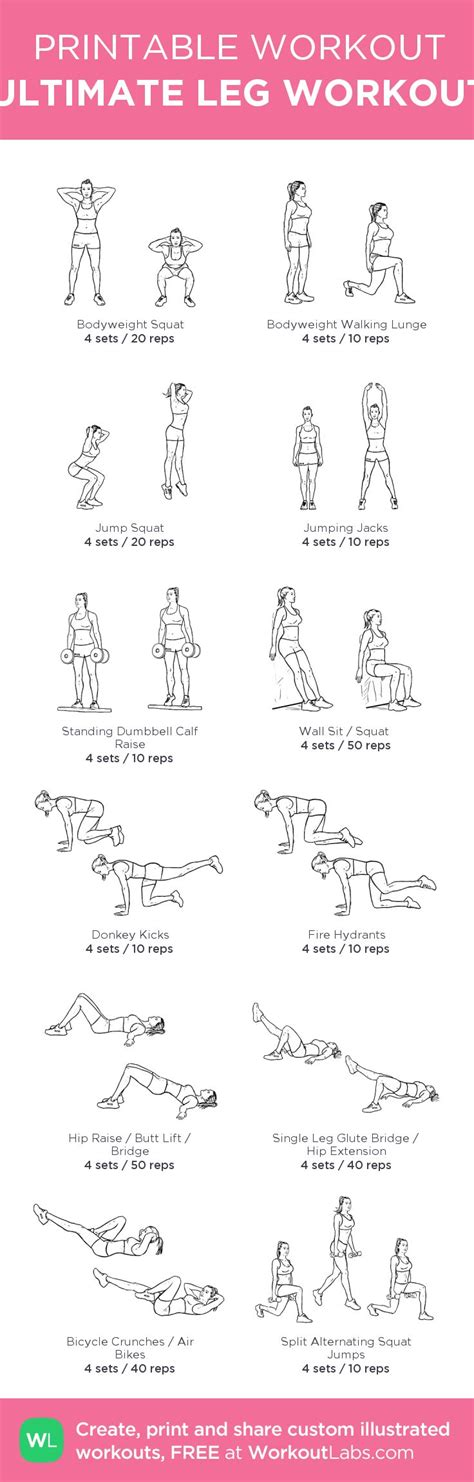 printable workout to customize and print ultimate at home pin by kristen luciano on health and fitness pinterest