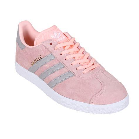 Sepatu Adidas Gazelle White Pink Original Clearance Sale adidas shoe wmns gazelle low sneaker white 129333 at hoodboyz