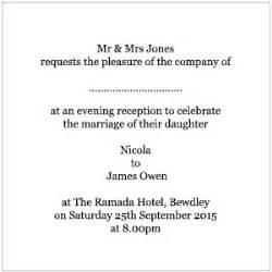 how to write an evening wedding invitation wedding evening invitations wording the card gallery news