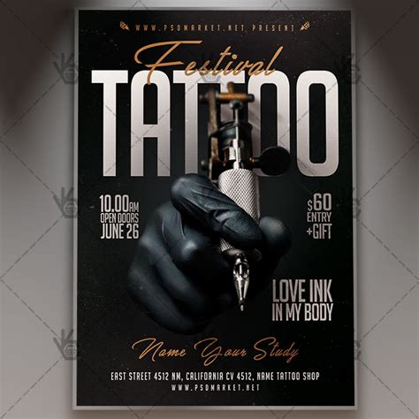 flyers tattoo festival business flyer psd template psdmarket