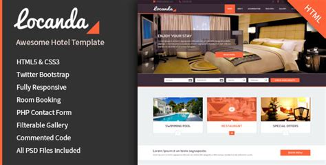 bootstrap templates for hotel reservation 12 hotel booking website templates to download