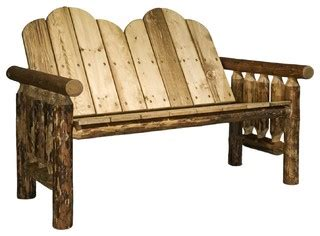 country benches indoor montana woodworks deck bench in glacier country rustic