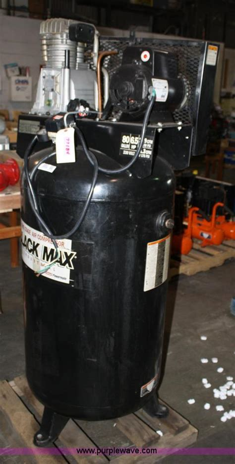 black max 80 gallon air compressor item 4905 sold novem