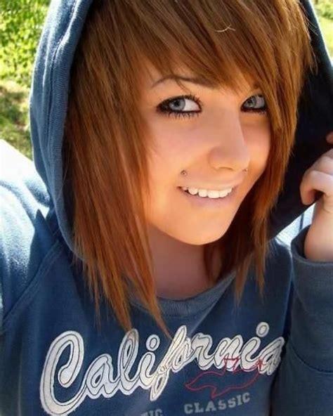 emo hairstyles brown hair brown emo hair x3 hair styles pinterest bangs emo