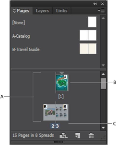 indesign layout view pages and spreads in indesign
