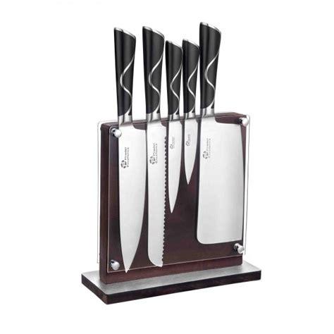 bloc de couteaux de cuisine professionnel bloc en bois de 5 couteaux de cuisine luxe