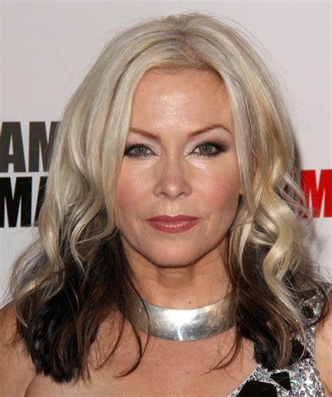 Terri Nunn Long Wavy Casual Hairstyle   Light Blonde