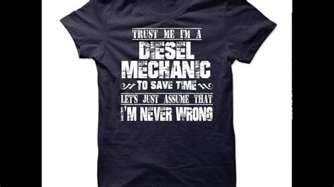 design a mechanic shirt diesel mechanic shirts diesel mechanic t shirts youtube