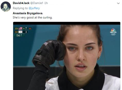 mixed russians russian olympic curler anastasia bryzgalova takes a tumble