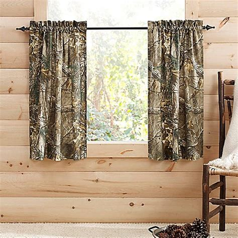 realtree curtains buy realtree 174 xtra 24 inch window curtain tier pair from