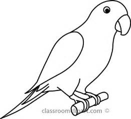 animals parrot 3a outline 22212 classroom clipart