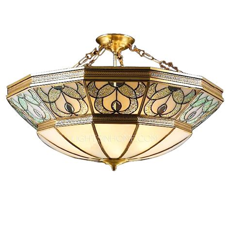 Decorate Your Home With Stained Glass Lights Ceiling Stained Glass Ceiling Lights