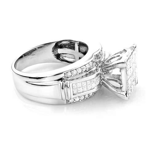 princess cut engagement ring 1 5ct 14k gold