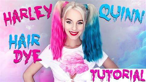 harley quinn hair color how to dye your hair like quot harley quinn quot tutorial for