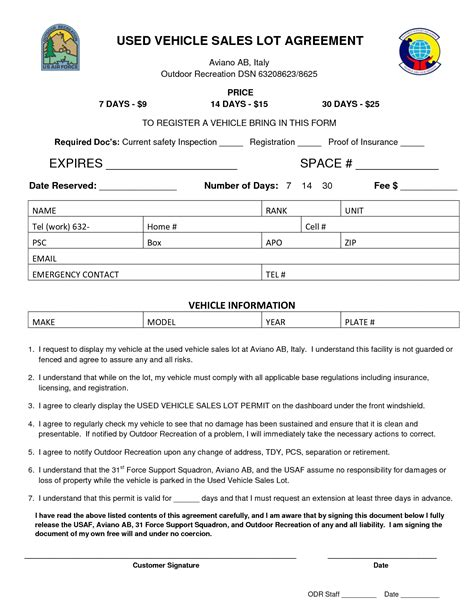 clever agreement car sale agreement form for used car sale