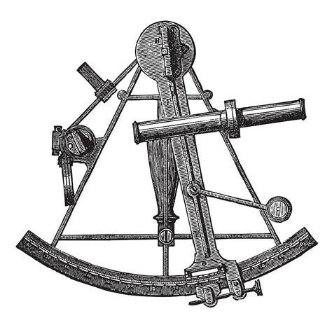 sextant drawing sextant historic engraving drawing by ticky kennedy llc