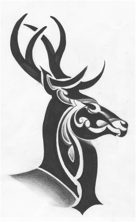 tribal deer tattoos pin pin tribal deer on picture to on