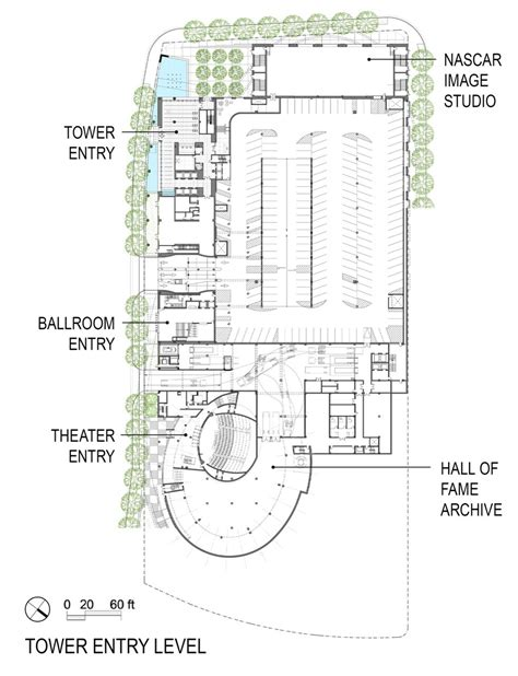 rock and roll hall of fame floor plan gallery of nascar hall of fame pei cobb freed partners