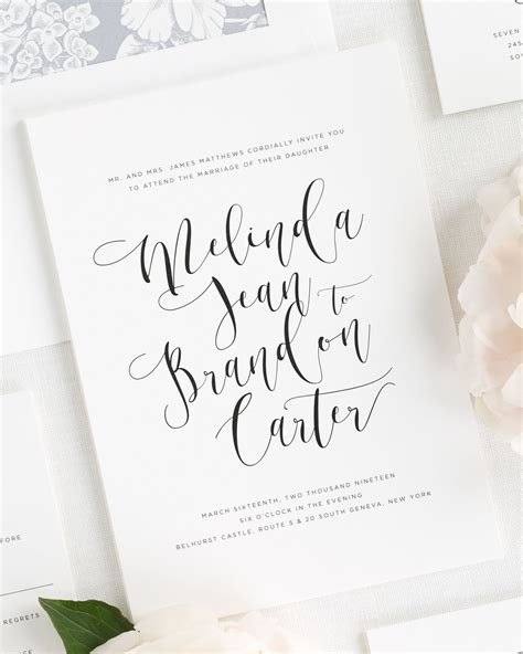 Wedding Card Calligraphy by Flowing Calligraphy Wedding Invitations Wedding