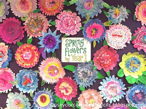 Flowers With Paper Plates - use your coloured pencils paper plate flower collages