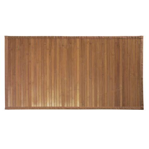bathroom bamboo mat formbu 34 in x 21 in medium bath mat in bamboo 81032