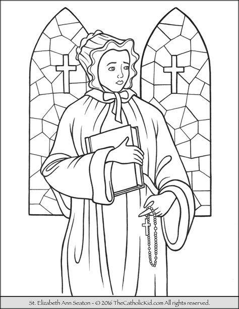 saint elizabeth ann seaton coloring page the catholic