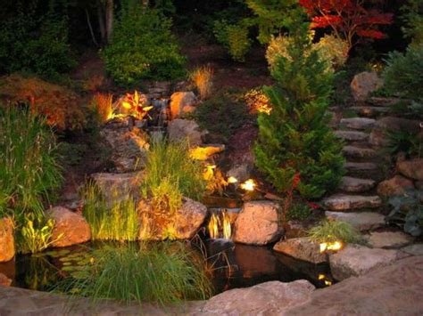 outdoor pond lights 38 innovative outdoor lighting ideas for your garden