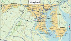 state cus map pin map of maryland on