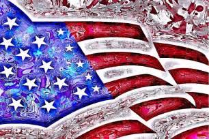 Red White Blue Duvet Cover American Flag Abstract Digital Art By Vicki Podesta
