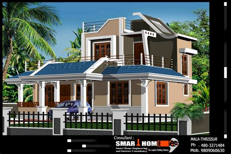 kerala home design 2d 2d elevations modren houses modern home exteriors