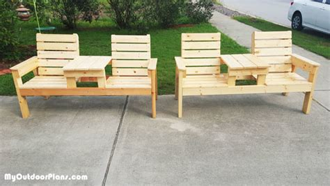 double benching diy double bench myoutdoorplans free woodworking plans