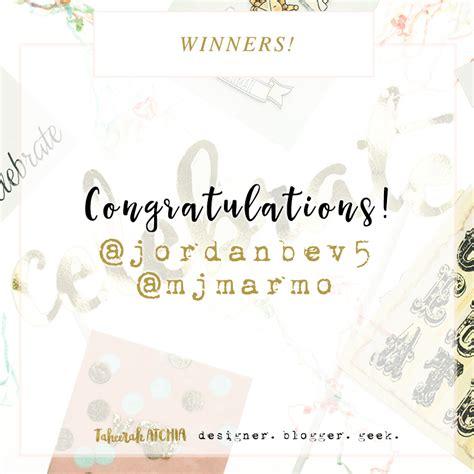 Post Your Giveaway - ellen hutson guest designer post winner instagram giveaway winners taheerah atchia
